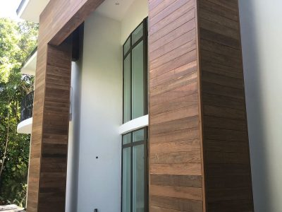 Modern Ipe Wood Miami Siding